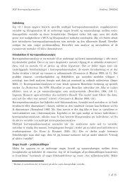 Indledning Introduktion til korrespondanceanalyse Unges livsstil ...