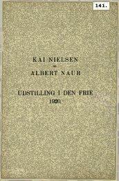 KAI NIELSEN ALBERT NAUR UDSTILLING I DEN FRIE 1920.
