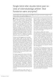 Single-blind eller double-blind peer re- view af videnskabelige ...