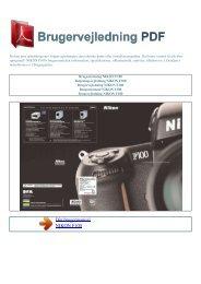 Brugsanvisning NIKON F100 - Brugervejledning