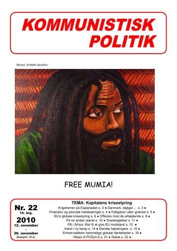 Nr. 22 2010 FREE MUMIA! - Kommunistisk Politik