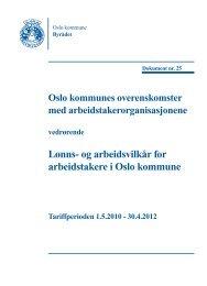 Oslo kommunes overenskomster med ... - FO