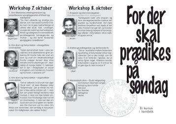 Workshop 7. oktober Workshop 8. oktober - helsingoerstift.dk