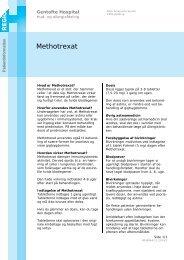 Methotrexat - EPIS - Gentofte Hospital