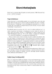 Storcirkelsejlads - Vestergaards Matematik Sider