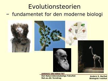 Evolutionsteorien - Aarhus Universitet