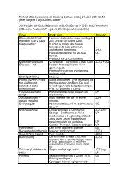Referat af bestyrelsesmøde i Bisserup Sejlklub tirsdag 21. april 2010 ...