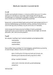 ÅRSPLAN I MUSIK 4. KLASSE 08/09 - Glesborg Skole