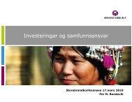 (Microsoft PowerPoint - Kirkens N\370dhjelp - Per N ... - Storebrand