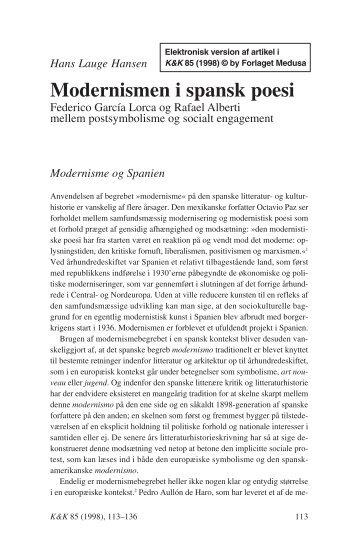 Modernismen i spansk poesi