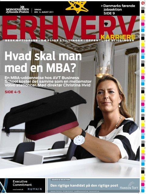Hvad skal man med en MBA? - AVT Business School
