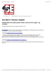 Sys Bjerre: Kæmpe vægttab - Arndal Spa & Fitness