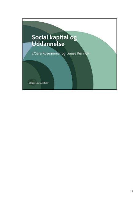 Social kapital og uddannelse