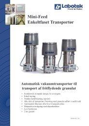 Mini-Feed Enkeltfaset Transportør - Labotek
