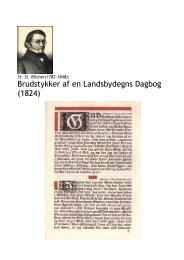 Brudstykker af en Landsbydegns Dagbog (1824) - Jan Thiemann