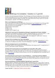 HB Køges Netværksklubber - Nyhedsbrev nr. 5, april 2013