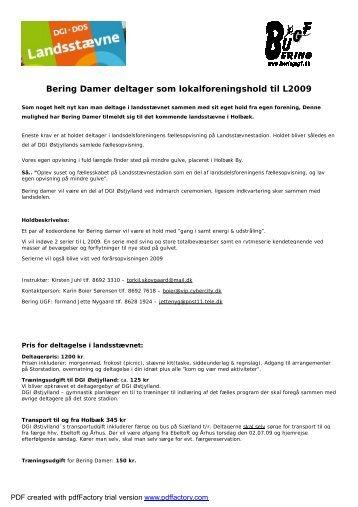 Bering damer infobrev - Bering UGF