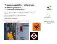Tilsætningsstoffer i chlorerede opløsningsmidler - ATV Jord og ...