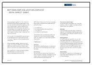 betingelser for SEPA Direct Debit - Danske Bank