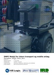 DMFC modul for intern transport og mobile anlæg