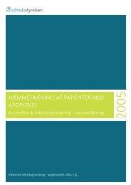 hjemmetræning af patienter med apopleksi - Sundhedsstyrelsen