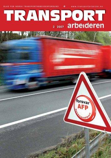 Transportarbeideren nr. 2/2008 i pdf-format - Truckers.no