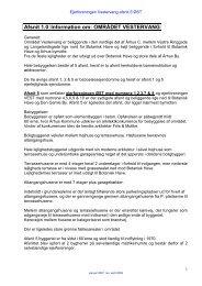 Generel information - Ejerforening Vestervang afsnit 5 øst