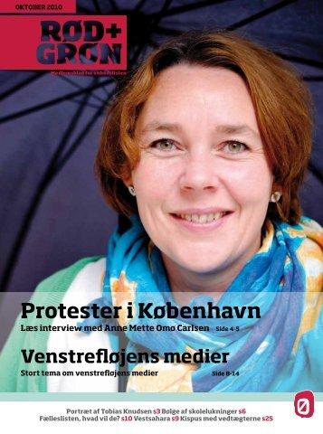 Protester i København - Enhedslisten