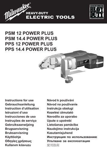 PPS-PSM14-4.pdf - Milwaukee