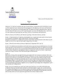 Referat af Præsidiemøde den 17. november 2011 - Danske ...