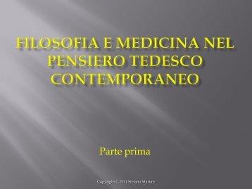 Filosofia e medicina nel pensiero tedesco contemporaneo