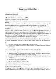 Se projektbeskrivelsen for sorggrupper i folkekirken her