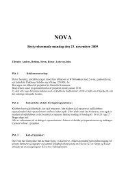 Bestyrelsesmøde 23. nov 2009 - Kajakklubben Nova