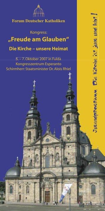 Programm - Forum Deutscher Katholiken