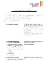 Referat fra Skolebestyrelsens møde nr. 17 onsdag ... - Sjølundsskolen