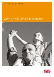 Pjece: Værd at vide om dit testamente - Kræftens Bekæmpelse