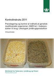 Instruks for prøvetagning og kontrol af indhold af GMO i ...