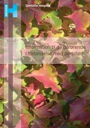 Information til pårørende i forbindelse med ... - Gentofte Hospital