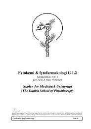 Fytokemi & fytofarmakologi G 1 - Asclepius.dk