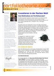 Portfoliotheorie Newsletter 08-2007 - Weltindizes - 2