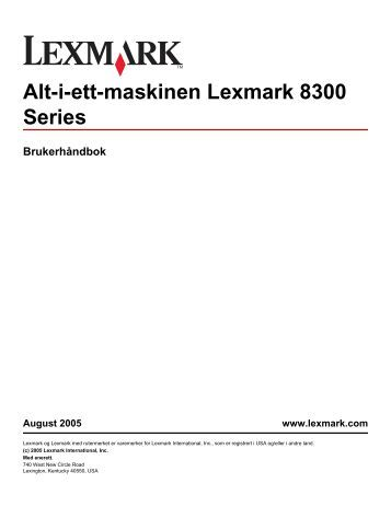 Brukerhåndbok for Windows - Lexmark