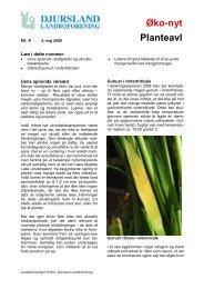 Planteavl nr 4 2009 - Djursland Landboforening