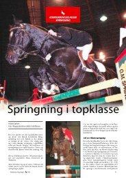 Springning i topklasse - Ridehesten.com