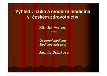 Aplikace moderní medicíny - doc.Drábková