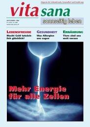 Energie für alle Zellen Mehr Energie für - vita sana Gmbh