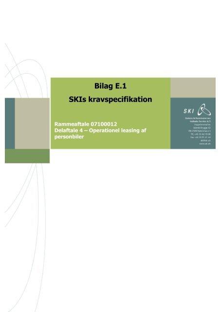 Review 1 - Bilag E.1 kravspecifikation del 2
