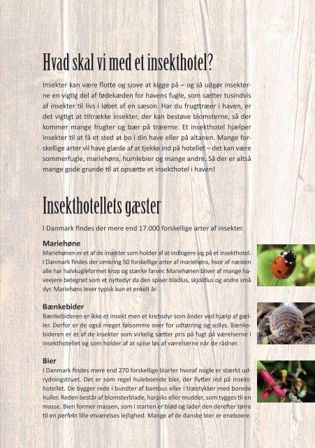 Download folder om insekthoteller - Friluftsrådet