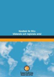 Handbok för EU:s bilaterala och regionala avtal - Kommerskollegium