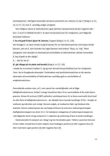 Pragmatiske sprogvanskeligheder (PLI) - et single ... - Tonsgaard.net