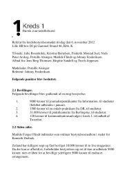 Bestyrelsesmøde den 6. november 2012 - Kreds 1